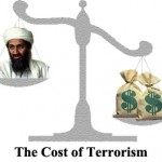 The war on terror depicting the huge cost to the U.S.